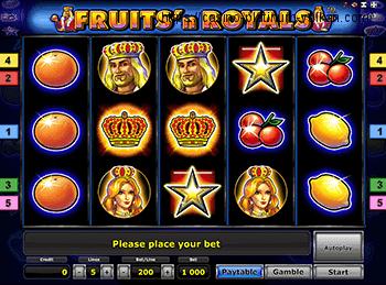 Игровой аппарат Fruits and Royals